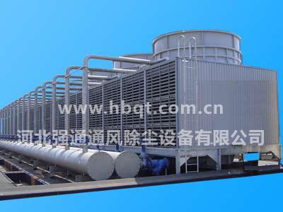 塔体钢结构件在加工后采用镀锌处理,提高冷却塔的耐腐蚀性能,在正常